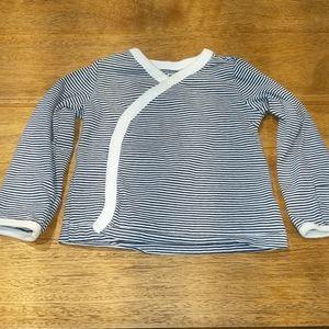Organic cotton wrap around shirt